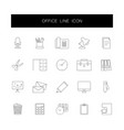 Line icons set office pack