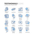line testimonials icons vector image vector image