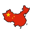 Map in colors of China vector image vector image
