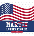 martin luther king jr day vector image vector image