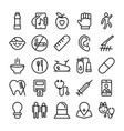 medical health and hospital line icons 7 vector image vector image