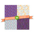 memphis seamless pattern collection vector image vector image