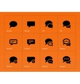 Message bubble icons on orange background vector image vector image