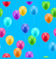 multicolored balloons blue background seamless vector image vector image