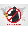 No terrorism Stop terror sign anti terrorism vector image