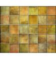 orange square tile grunge pattern backgrounds coll vector image vector image