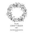 original circle wreath ornament card doodle vector image
