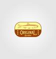 original sardine fish vintage logo label emblem vector image vector image