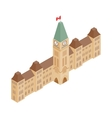 Parliament Buildings Ottawa icon vector image vector image