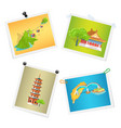 photographs of taiwanese sightseeings on white vector image vector image