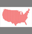 red dot map of the usof a vector image vector image
