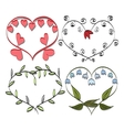 romantic frame Valentines doodle vector image vector image