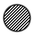 round emblem in monochrome and striped vector image vector image