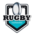 rugby goal tournament emblem graphic vector image vector image