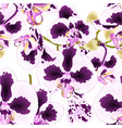 seamless texture orchid phalaenopsis with spots vector image vector image