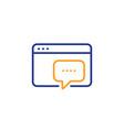 seo message line icon web chat sign traffic vector image vector image