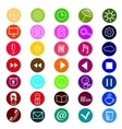 set of icons for a site vector image vector image