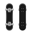 skateboards set two styles top and bottom view vector image vector image