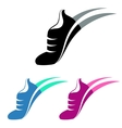 Sport shoes sign with color variations vector image