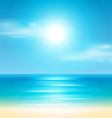 Summer holidays beach background vector image