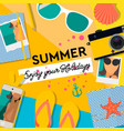 summertime background enjoy your holiday vector image vector image