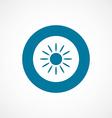 sun bold blue border circle icon vector image