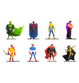 superheroes set different male superhero vector image vector image
