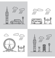 symbols of London city vector image vector image
