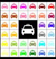 taxi sign felt-pen 33 vector image vector image