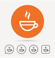 tea cup icon hot coffee drink sign vector image