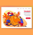 tourism travel and camping equipment web banner vector image