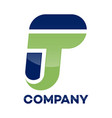 tp letter logo vector image vector image
