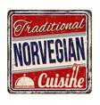 traditional norvegian cuisine vintage rusty metal vector image vector image