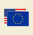 us and eu flags set vector image