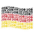 waving germany flag mosaic of job text items vector image