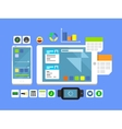 Developing a mobile app and layout vector image