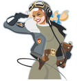pinup vector image