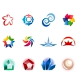 12 colorful symbols set 1 vector image vector image