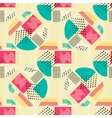 Abstract seamless pattern with geometric figures vector image vector image