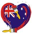 Australian grunge flag vector image vector image