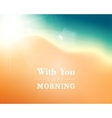 Background with sun and sand vector image vector image