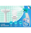 bathroom cleaner ad 3d vector image vector image