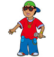 cartoon rapper vector image