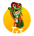 Chinese New Year Lion Dance vector image vector image
