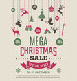 christmas poster for big sales new year voucher vector image
