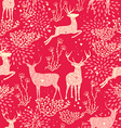 Christmas seamless pattern deer nature elements vector image vector image