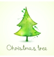 Christmas tree in watercolor trending style cute vector image vector image