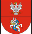 coat of arms of podlaskie voivodeship in vector image vector image