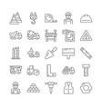 construction and architecture thin line icon set vector image