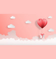 creative valentines day background paper cut style vector image vector image